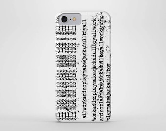 All Work And No Play Makes Jack A Dull Boy Phone Case - iPhone & Samsung Galaxy Cases - Redrum, Overlook Hotel, Horror, Typewriter