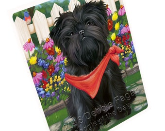 Spring Floral Affenpinscher Dog Print Throw Blanket