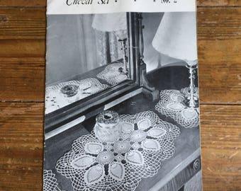 Rare Crochet Chevel Set Magazine - Includes 12 patterns - c1960's