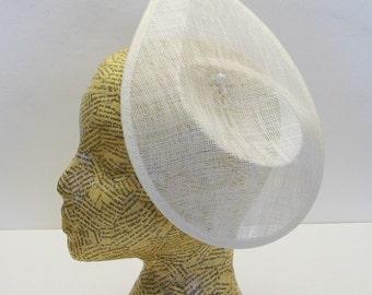 Sinamay Contoured teardrop base -Ivory - millinery, fascinator, bridal