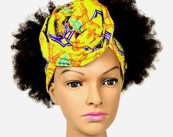 printed fabric scarf African wax