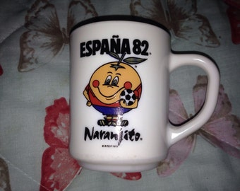 Spain 1982 mug good condition vintage collectable