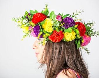Bright flower headdress - Bespoke MayHem