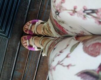 Handmade gladiators shoes