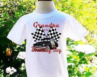 Cars Grandpa Birthday Shirt Cars Grandpa of the Birthday Boy Shirt Grandpa Custom Birthday Shirt-C006