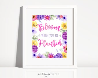 Nursery Print- Nursery Wall Art- Kids Wall Art- Baby Gift-Floral - Watercolor Flower Art - Wildflower Art -Watercolor Bouquet