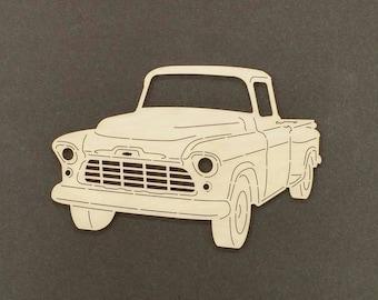1956 CHEVY TRUCK Wall Art(Birch Wood)