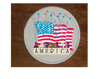 AMERICA'S BIRTHDAY. patch. 4th. of july.