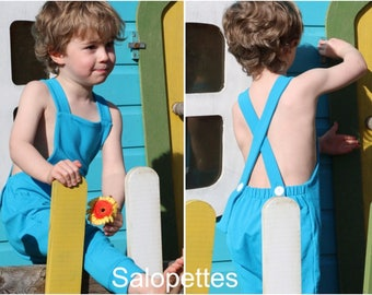 Baby Dungarees, Kids Salopettes,  Baby Romper, Toddlers Dungarees, Childrens Overalls, Bib and Brace, Solid Colour Dungarees.