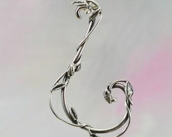 Vine Scroll Earrings in Sterling Silver