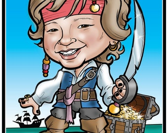 Themed Kid's Caricature