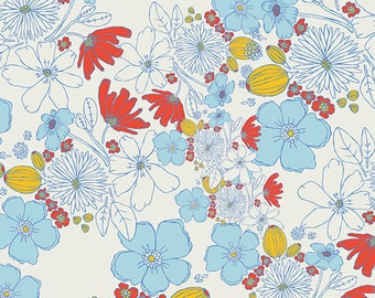 Leas Bloom in Clearwater (mw-70023) - MEADOW by Leah Duncan  - Art Gallery Fabrics - Leah Duncan - By the Yard
