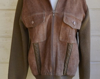 Vintage Suede Jacket Brown Suede Jacket Boho Jacket Hippy Jacket Women's Suede Jacket Size Medium