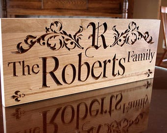 Personalized Name Sign, Personalized Gift, Parents Anniversary Gift, Mr Mrs Wood Sign, Custom Sign, Benchmark Custom Signs, Cherry RR