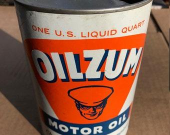 Vintage Oilzum Motor Oil Can 1 Quart