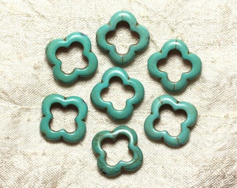 Bag - Turquoise beads - 20mm blue Turquoise 4558550034908 flowers 10pc