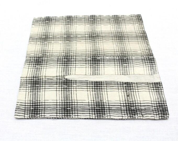 Japanese Zoukin Cloth. Antique Handmade Floor Cloth. Layered Cotton Sashiko Textile. Place Mat. (Ref: 1270)