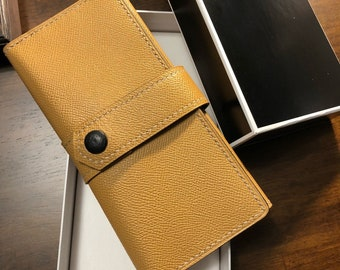 Leather long wallet, Leather lady wallet