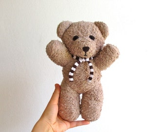 Organic teddy bear, organic plush bear, beige, light brown, eco toys for babies, eco toys for kids, organic toys, organic soft toys, eco toy