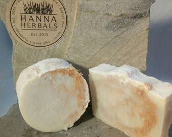 Peppermint Soap Loofah Bar - 4 ounce bar - pedicure loofah bar - smooth skin bar - peppermint soap