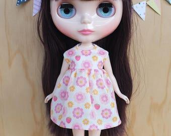 SALE Blythe Dress - Strawberry Garden