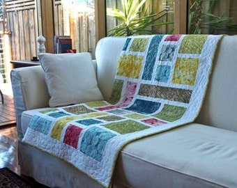 Stained Glass quilt pattern (PDF download) by Leslie Edwards @ Quilting Fabrications
