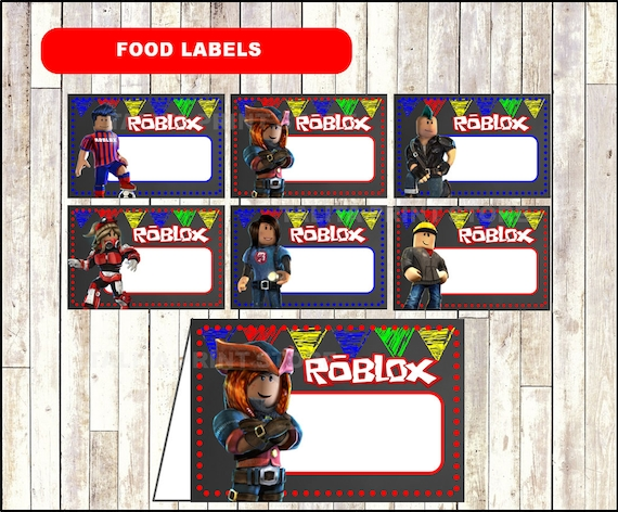 Roblox Chalkboard Food Labels Printable Roblox Food Tent