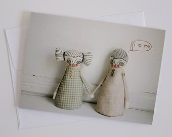 He Loves You - Greeting Card - Dolls Photography