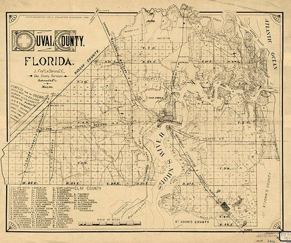 Restoration Hardware Florida: Map Of Duval County Florida 1885. Restoration Hardware Home