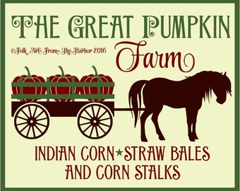 Primitive Stencil The Great Pumpkin Farm  7 mil reusable  12x15