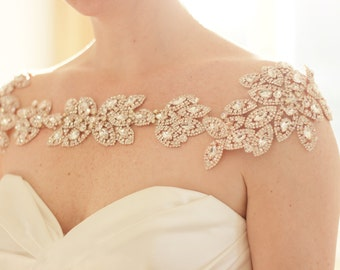 Bridal Bolero - Bridal Shoulder Necklace - Shoulder Jewelry - Statement Necklace - Rhinestone Bridal Shoulder Necklace - Wedding Accessory