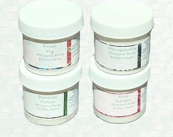 Whipped Body Butter - Springtime, Bloomtime Collection - Body Butter Sample Set - Various Scents