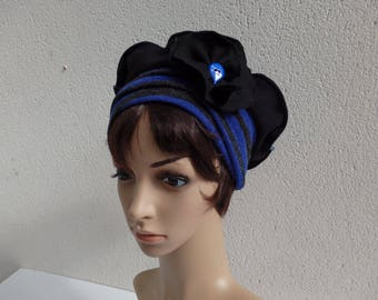 Beret headband warm and lightweight and comfortable made of fleece and acrylic. BR116