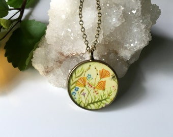 California Poppies Necklace