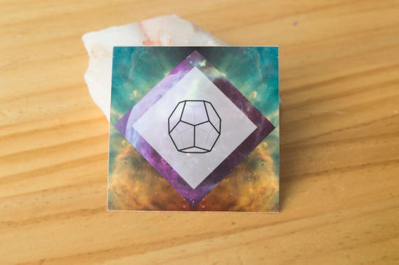Ether Platonic Solid Geometry Sticker