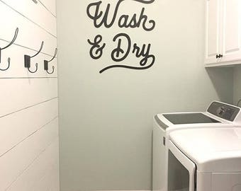 SALE! Wash & Dry laundry decor
