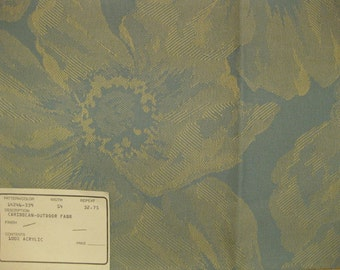 Blue Flowers Duralee Outdoor Upholstery Designer Fabric Sample 14246