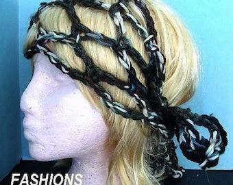 Crochet pattern -Gypsy headband-  Bandana, scarf, Do-Rag, or Skinny Scarf- num. 106 Beginner level, INSTANT DOWNLOAD