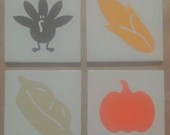 Thanksgiving Decorative Tile/Coasters