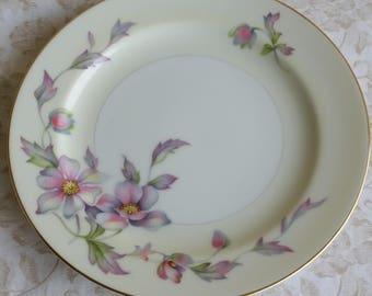 Silver Poppy by Sango Japan Salad Plate