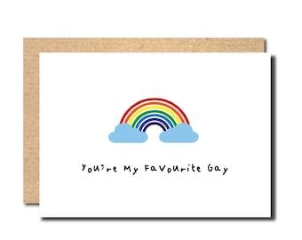 Funny Gay card, Birthday Gay card, Card for Gay Friend, LGBT card, Card for lesbian, Lesbian Birthday Card, Gay Birthday Card, Rainbow Card