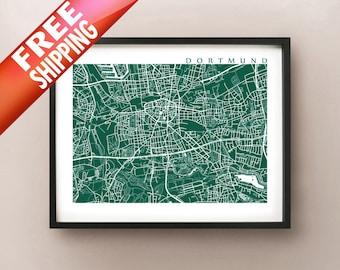 Dortmund Map - Germany Poster Print