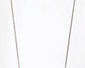BLACK BEADS + BELLS || necklace