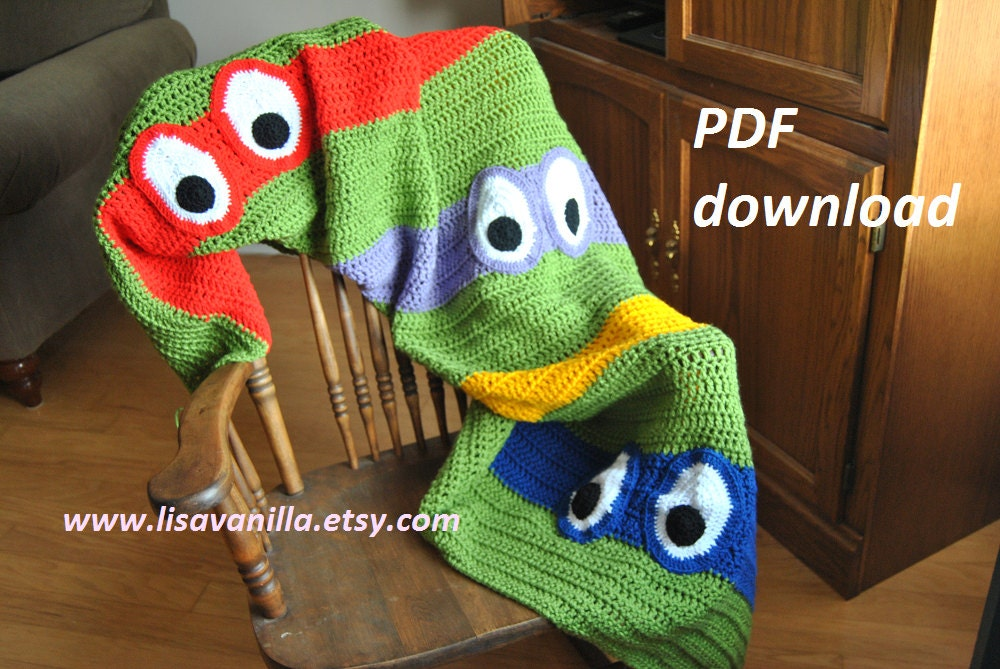 Tmnt Blanket Crochet Pattern Teenage Mutant Ninja Turtle Pdf