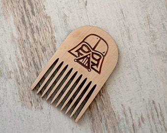 Star Wars Beard Comb Darth Vader Personalized Wooden Comb Valentine gift Groomsmen Gift for dad Gifts for boyfriend