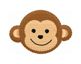 Instant Download Monkey Mini Filled Stitches Machine Embroidery Design NO:1113