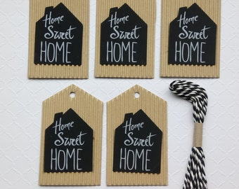05 Corrugated Tags, Bridal Shower, Gift Tags, Craft Tags