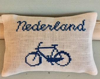 Handmade Dutch Bike Bicycle Nederland Holland Lavender Sachet Bike Fabric