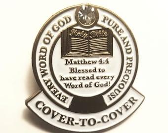 Bible Reading Lapel Pin
