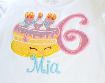 Birthday Shirt, Shopkin, Shopkin Birthday shirt, outfit, Shopkins with Name, Birthday Cake Shirt, wishes shirt, glitter Birthday, girls